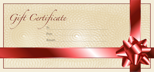 Car wash gift certificate